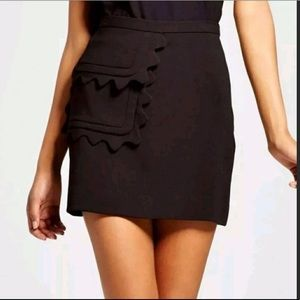 NWT Victoria Beckham Scallop Trim Skirt